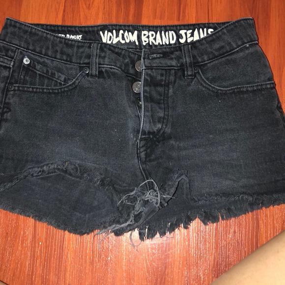 Volcom Pants - Volcom Black Denim Shorts